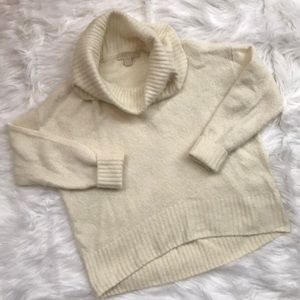 Michael Kors Cowl Neck Cream Sweater Med